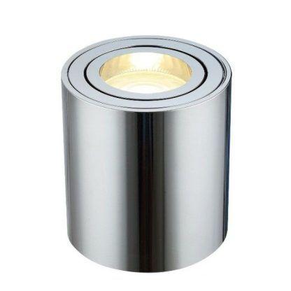 srebrny spot nowoczesny - tuba downlight led