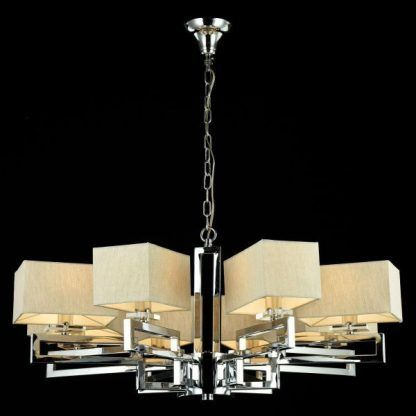 srebrny żyrandol do jadalni modern classic