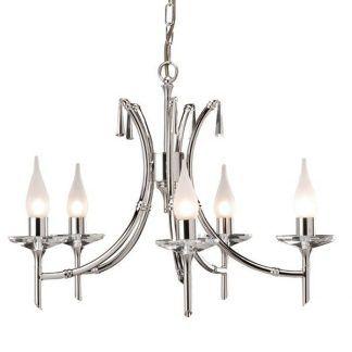 srebrny żyrandol do salonu klasycznego