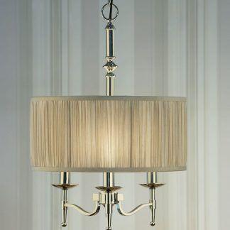 stanford srebrna lampa wisząca z jasnym abażurem
