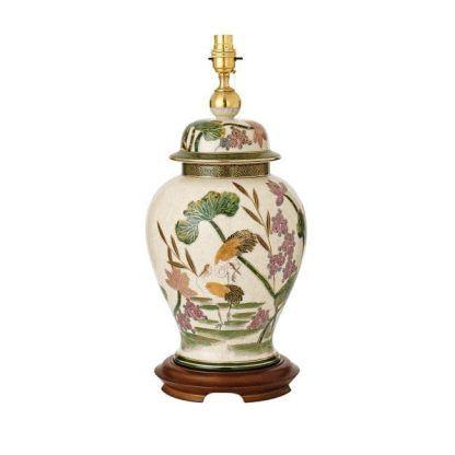 storks klasyczna ceramiczna lampa stołowa