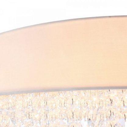 Stylowy biały abażur z kryształkami do salonu