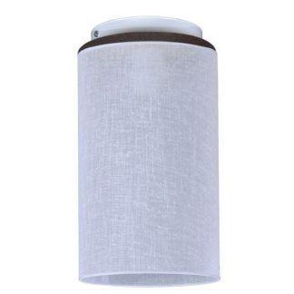 sufitowa lampa typu spot materiałowy klosz