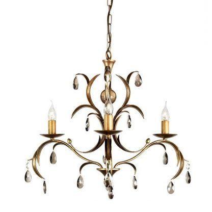 Świecznikowy żyrandol z kryształkami do salonu