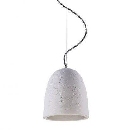 szara betonowa lampa wisząca do kuchni