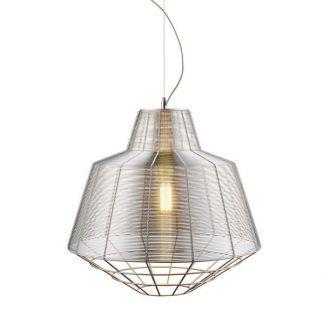 szara druciana lampa wiszaca do nowoczesnej kuchni industrialnej