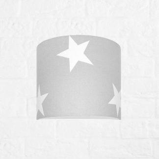 szara lampa dla chłopaka w gwiazdy