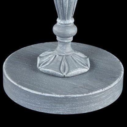 szara lampa stołowa klasyczne zdobienia