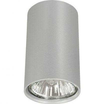 szara lampa sufitowa w formie tuby