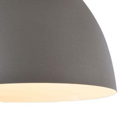 szara lampa wisząca nad okrągły stół do jadalni