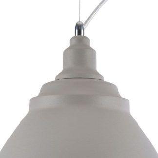 szara lampa wisząca styl industrialny do kuchni