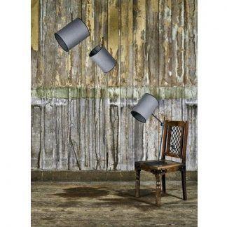 szara lampa wisząca z abażurem nowoczesna