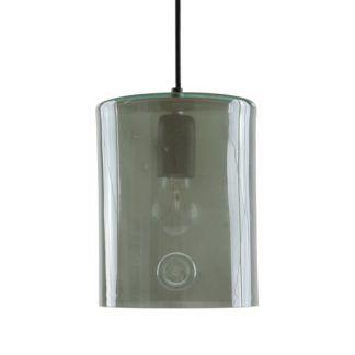 szara lampa wisząca ze szkła do kuchni