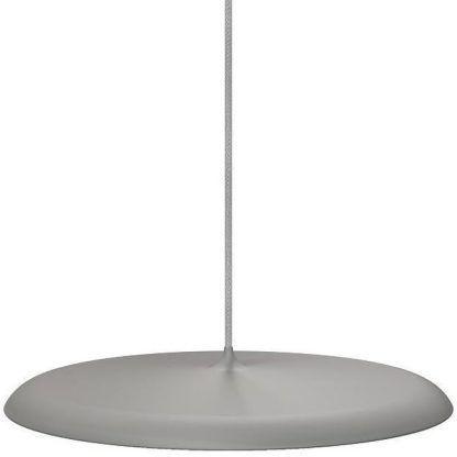 szara matowa lampa wisząca led nad stół
