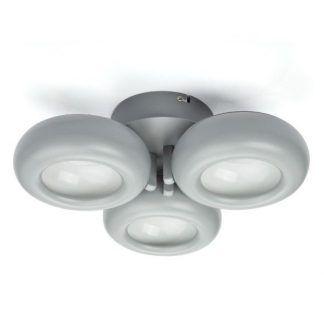 szara nowoczesna lampa sufitowa matowe klosze
