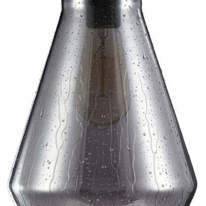 szara nowoczesna lampa wisząca z efektem kropli