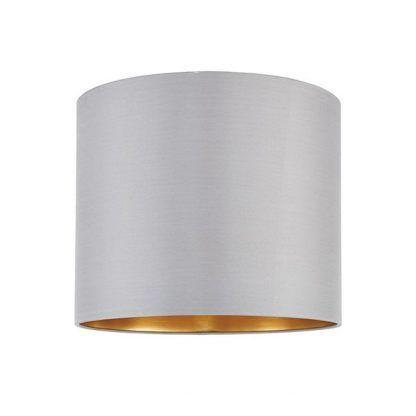 szary abażur do lampy stołowej złoty środek