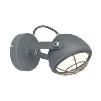 szary reflektor z osłoną żarówki - starodawny styl