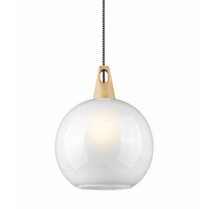 szklana kula lampa wisząca styl skandynawski