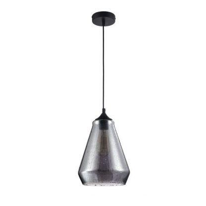 szklana lampa wisząca do jadalni efekt deszczu