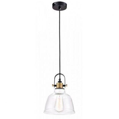 szklana lampa wisząca do kuchni industrialnej