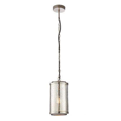 szklana lampa wisząca do wnętrz industrialnych