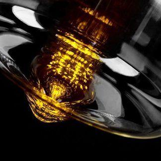 szklana lampa wisząca industrialny klosz
