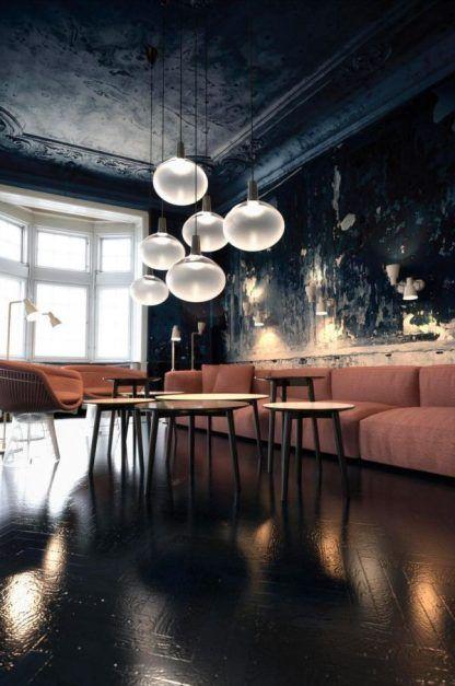 szklana lampa wisząca kula do salonu