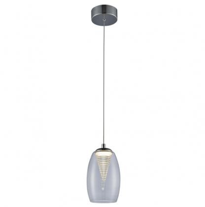 szklana lampa wiszaca o nowoczesnym designie - bezbarwna