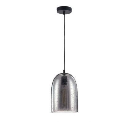 szklana lampa wisząca szklany klosz w strugach wody