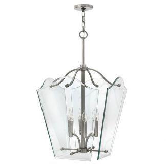 szklana lampa wisząca ze świecznikami glamour