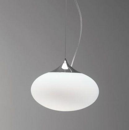 szklana owalna kula - lampa wisząca nowoczesna