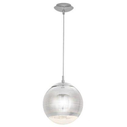 szklana srebrna kula lampa wisząca do jadalni