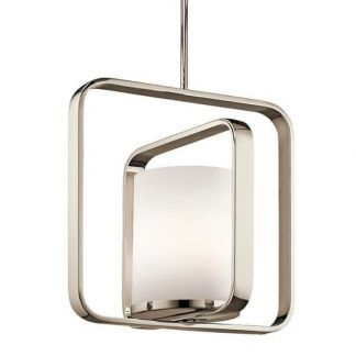 Szklany mleczny klosz lampy w metalowej oprawie kuchnia
