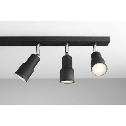 szynowa lampa sufitowa czarna - nowoczesny wygląd