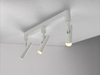szynowa lampa sufitowa z 3 reflektorami z regulacją kierunku i składaniem