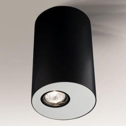 tuba sufitowa czarno biała do salonu