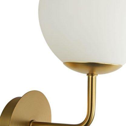 Uchwyt lampy ściennej Erich - kolor złoty