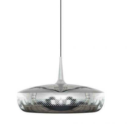 umage lampa wisząca srebrna w połysku do salonu