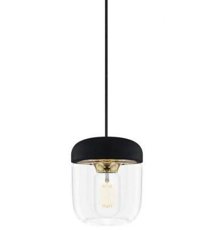 umage skandynawska lampa wisząca czarna słoik