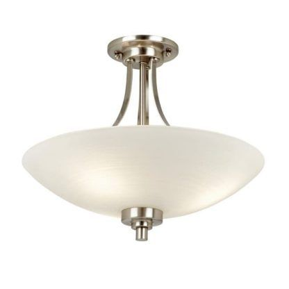 welles srebrna lampa sufitowa ze szklanym kloszem