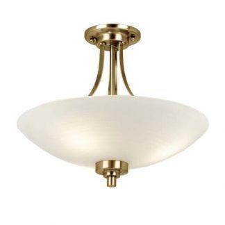 welles złota lampa sufitowa ze szklanym kloszem