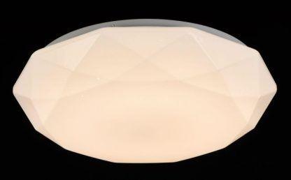 Wielokątny klosz ze szkła jako kinkiet lub plafon