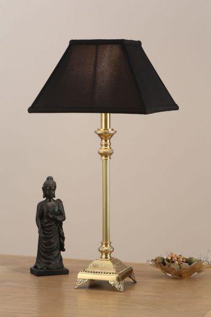 wilmin złota lampa stołowa z klasycznymi dekorami