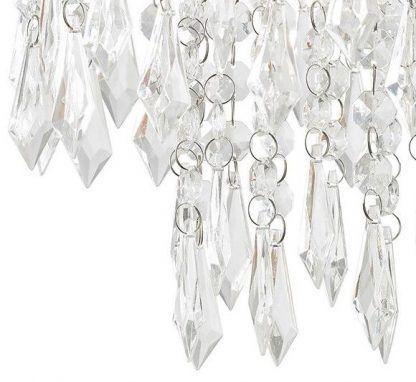 Wiszące kryształki lampa do sypialni styl glamour