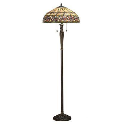 witrażowa lampa podłogowa sznurkowy włącznik