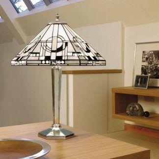 witrażowa lampa stołowa do gabinetu