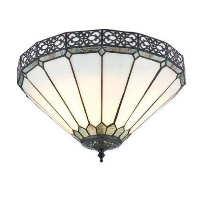 witrażowa lampa sufitowa art deco szklana
