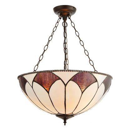 witrażowa lampa w odcieniach brązu
