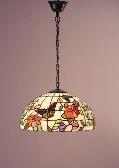 witrażowa lampa wisząca do kuchni prowansalskiej